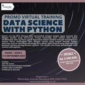 Promo Virtual Training Data Science With Python