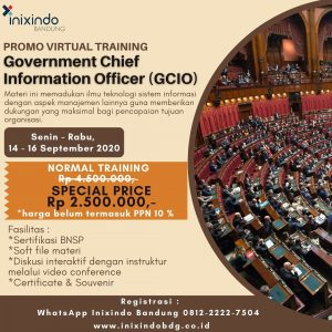 Promo Virtual Training Government Chief Information Officer (GCIO)