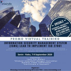 Promo Virtual Training Information Security Management System (ISMS) Lead to Implement ISO 27001
