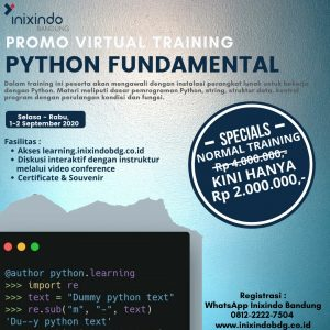 Virtual Training Python Fundamental